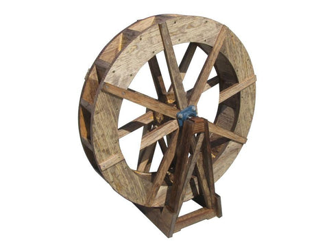 SamsGazebos 8 foot Japanese Wood Water Wheel Free Standing