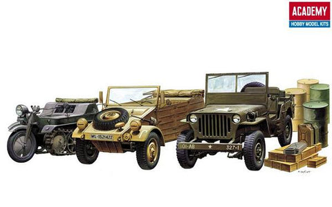 ACA13416 Academy 1/72 Light Vehicles of WW2