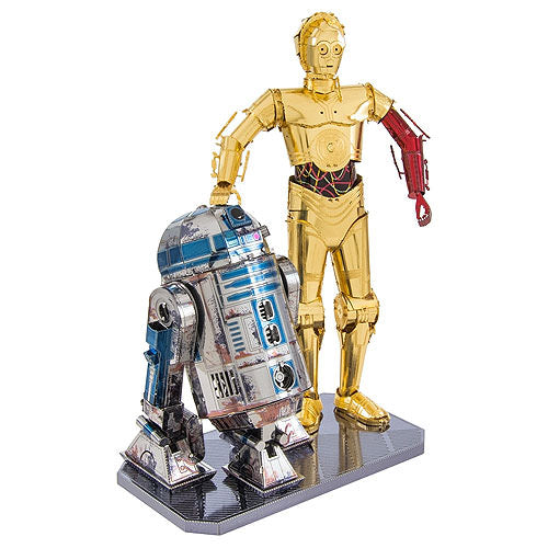Metal Earth R2-D2 & C-3PO Coloured 3D Model Kit