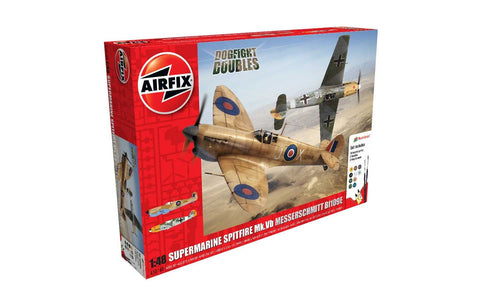 Airfix A50160 Dogfight Doubles 1/72 Spitfire Vb & Me Bf109E Set