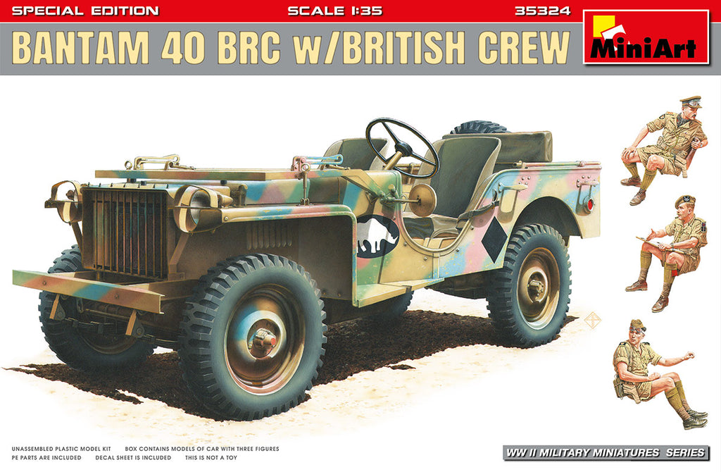 MIN35324 Miniart 1/35 Bantam 40 BRC with British Crew