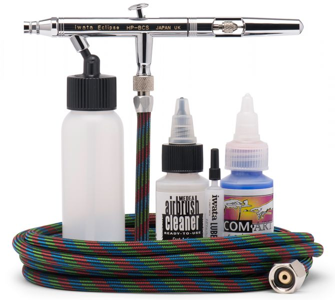 IWAECL2001 Iwata HP-BCS Value Set Gravity Feed Double Action Airbrush