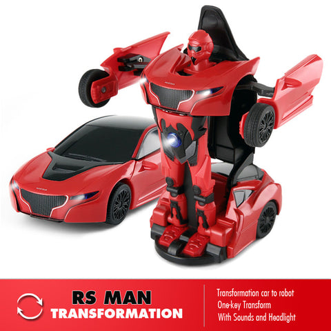 RAS74700 1/14 RS Transformable Car RTR  Red