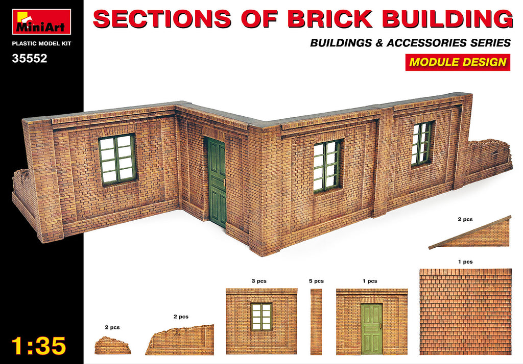 MIN35552 Miniart 1/35 Sections of Brick Buildings