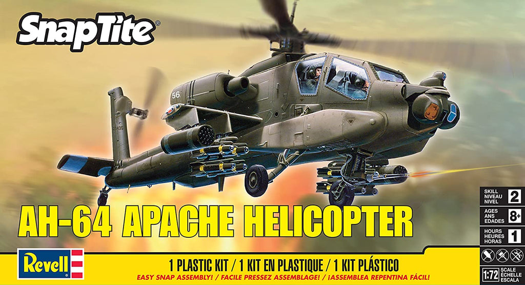 REV1183 Revell Snaptite 1/72 AH-64 Apache Helicopter