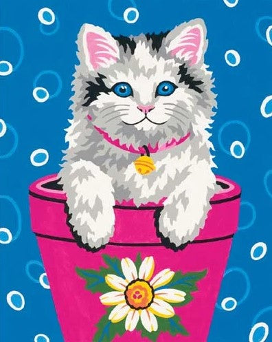 DIM91367 Paintworks Flower Pot Kitten