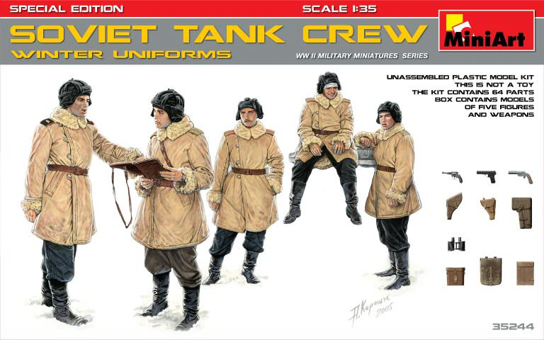 MIN35244 Miniart 1/35 Soviet Tank Crew Winter Uniforms