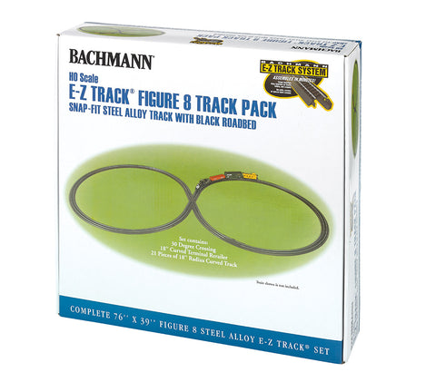 BAC44487 HO E-Z Track Steel Alloy Figure 8 Track Pack