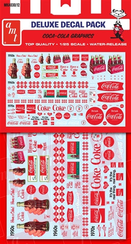MKA030 AMT 1/24-1/25 Coca-Cola Graphics Deluxe Decal Pack