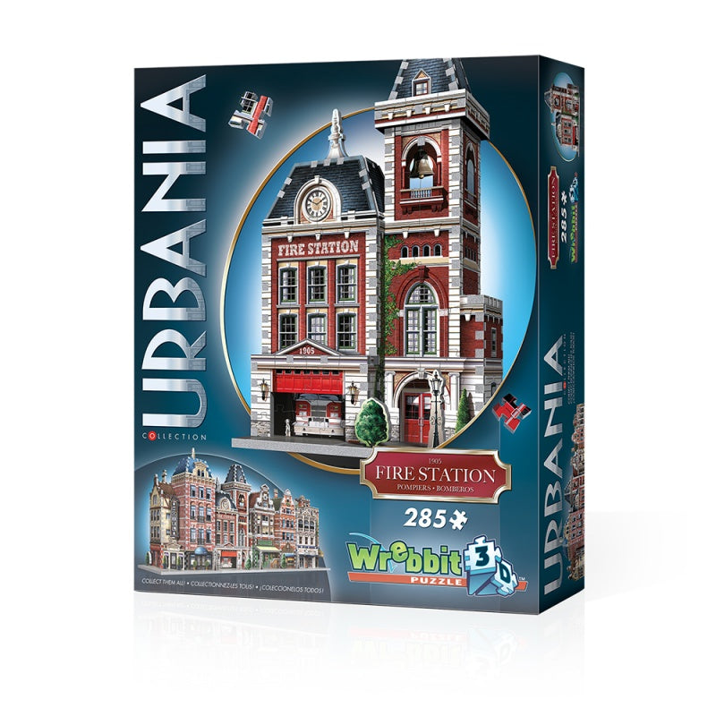Wrebbit W3D0505 Urbania Collection Fire Station Puzzle