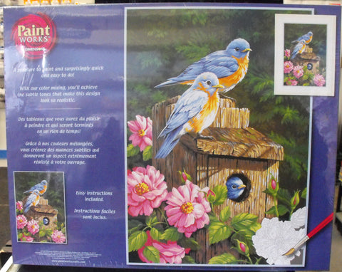 DIM91401 Paintworks Garden Bluebirds