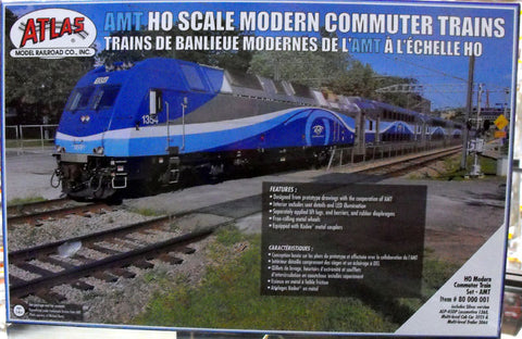 Atlas ATL80000001 HO Modern Commuter Train Car Set AMT