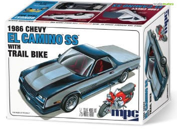 MPC888 MPC 1/25 1986 Chevy El Camino with Trail Bike