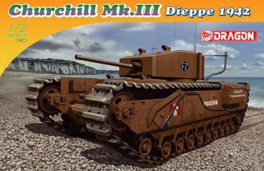 DRA7510 Dragon 1/72 Churchill III Dieppe 1942