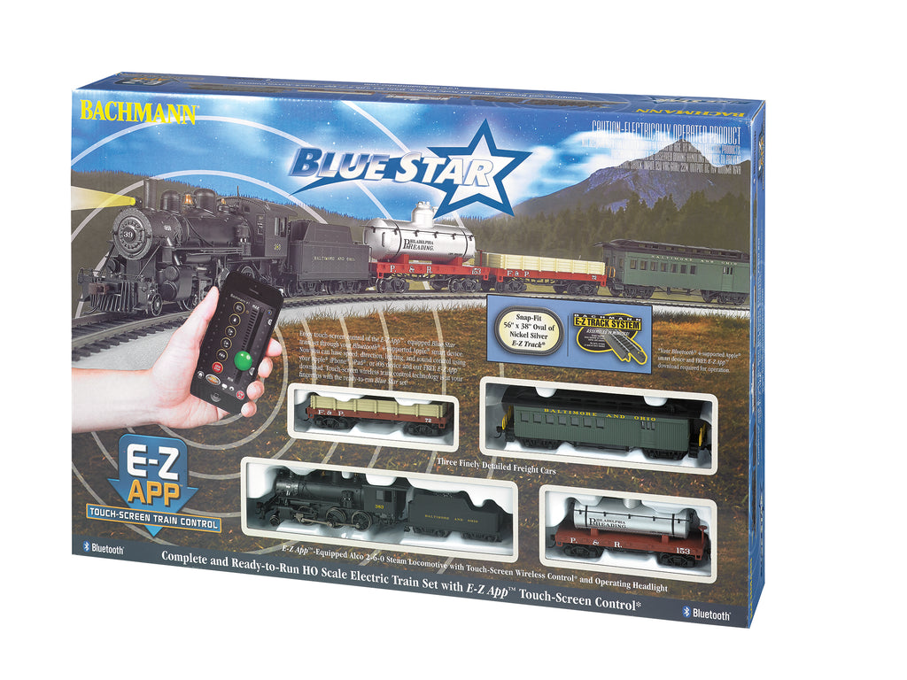 BAC01502 Bachmann HO Blue Star E-Z App Train Set