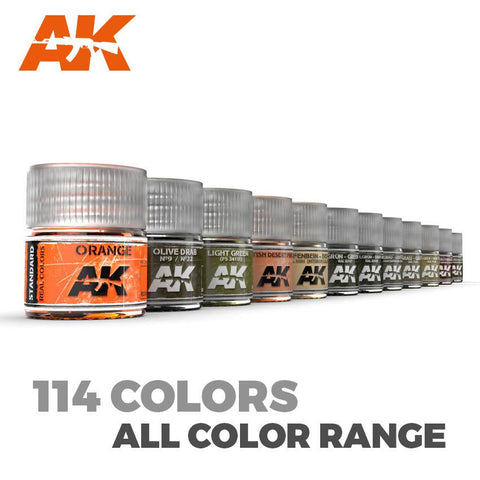 AK Real Colour - Acrylic Lacquer Paints #500 - 508 Finishes & Clears