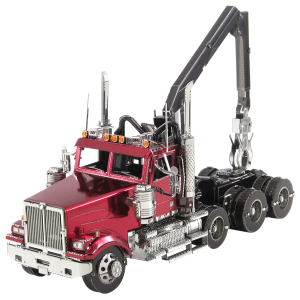 Metal Earth Western Star Logging Truck ICONX Coloured