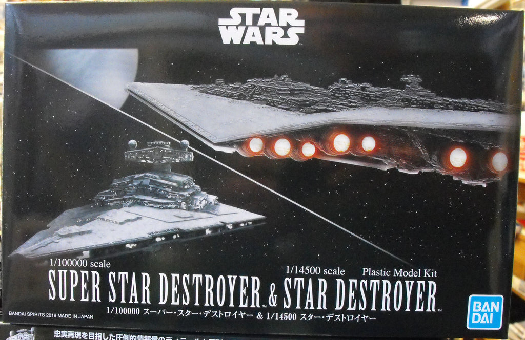 BAN5057712 Bandai 1/100000 Super Star Destroyer & 1/14500 Star Destroyer