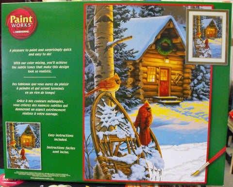 DIM91397 Paintworks Cardinals & Cabin