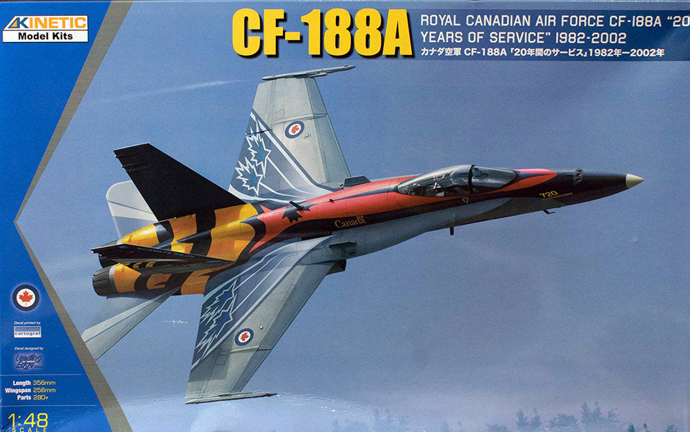 KIN48079 Kinetic 1/48 CF-188A RCAF 20 Years of Service 1982 - 2002