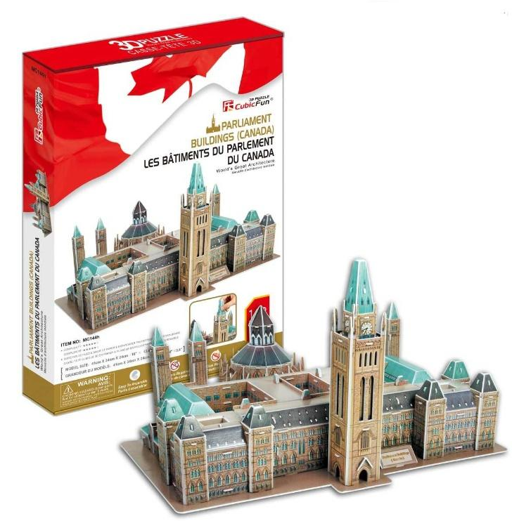 MC144H Cubic Fun Canadian Parliament 3D Puzzle