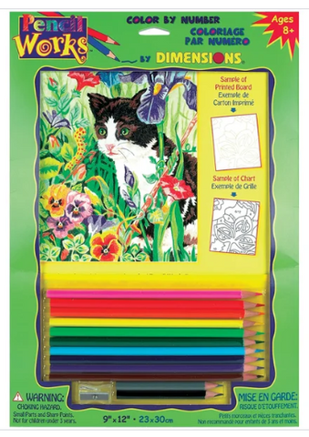 DIM91318 Pencilworks Kitty in Flowers