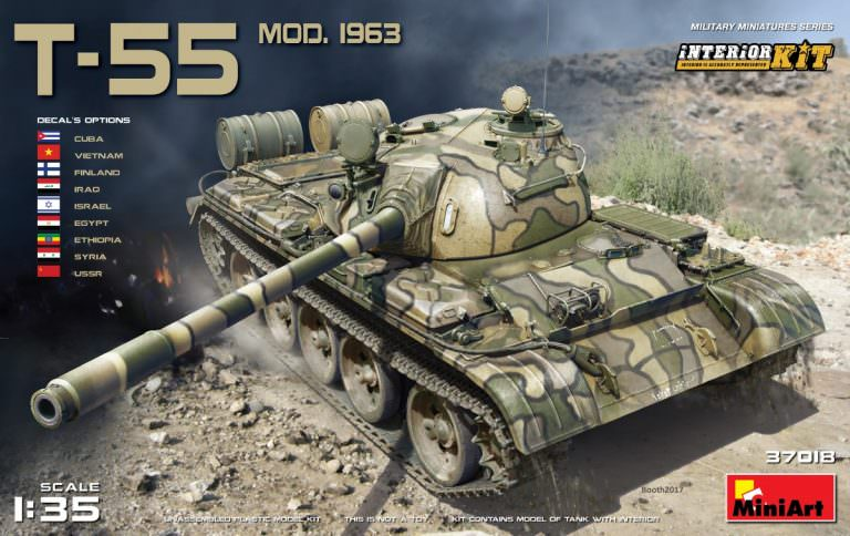 MIN37018 Miniart 1/35 T-55 Mod.1963 Full Interior Kit
