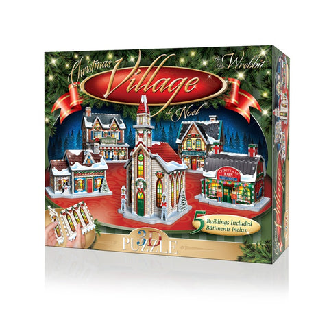 Wrebbit W3D5601 Christmas Village 3D Puzzle