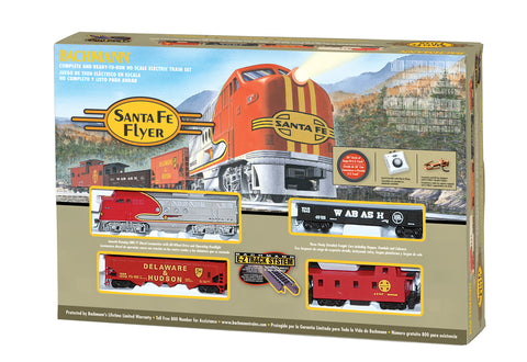 BAC00647 Bachmann HO Santa Fe Flyer Train Set