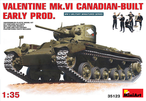 MIN35123 Miniart 1/35 Valentine Mk.VI Canadian Built Early Production