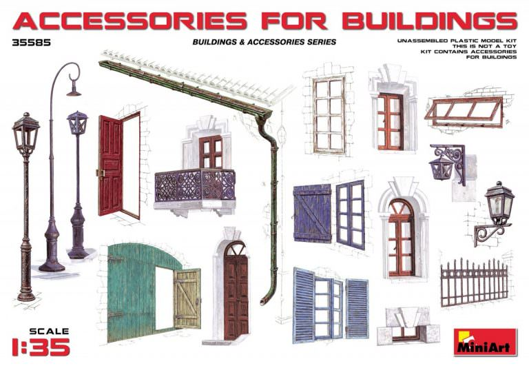 MIN35585 1/35 Accessories for Buildings