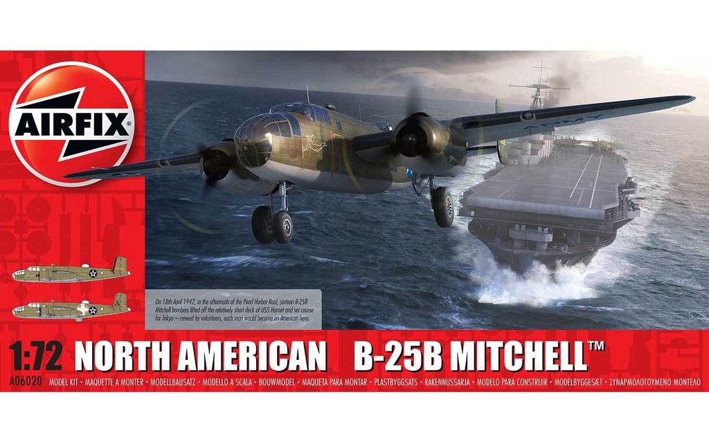 "AIR06020 Airfix 1/72 North American B-25B Mitchell ""Doolittle Raider"""