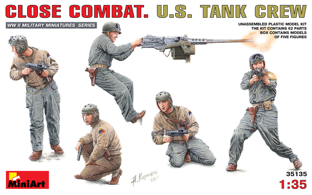 MIN35135 Miniart 1/35 Close Combat US Tank Crew