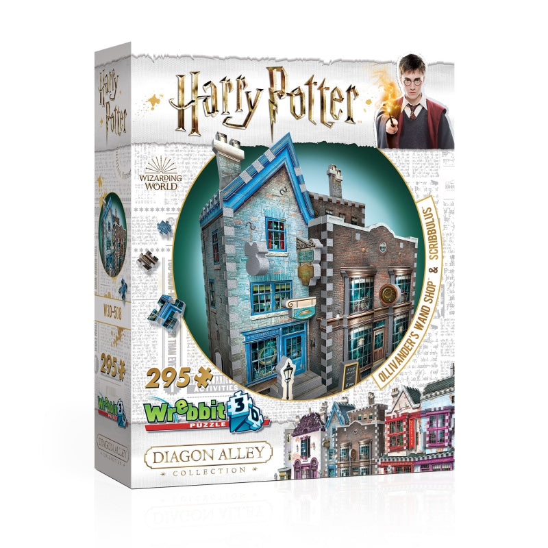Wrebbit W3D508 Harry Potter Diagon Alley Collection 3D Puzzle : Ollivanders Wand Shop