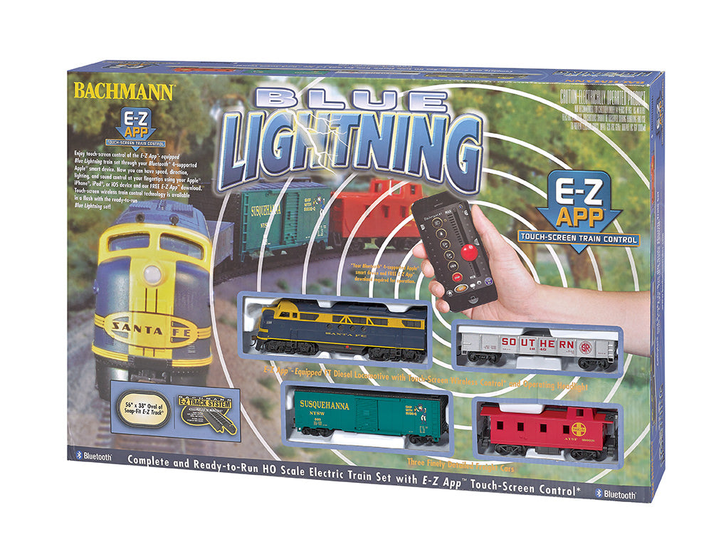 BAC01501 Bachmann HO Blue Lightning E-Z App Train Set