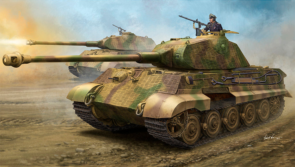 HB84530 Hobbyboss 1/35 King Tiger Porsche with Zimmerit