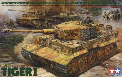 TAM25401 Tamiya 1/35 Late Tiger 1 w/Ace Commander & Crew