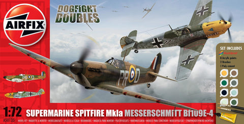 Airfix A50135 Dogfight Doubles 1/72 Spitfire 1a & Me Bf109E-4