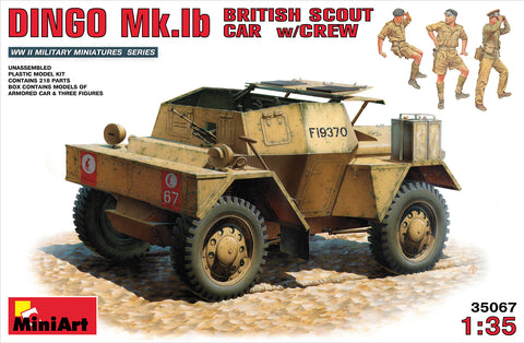 MIN35067 Miniart 1/35 Dingo Mk.1b British Scout Car w/Crew