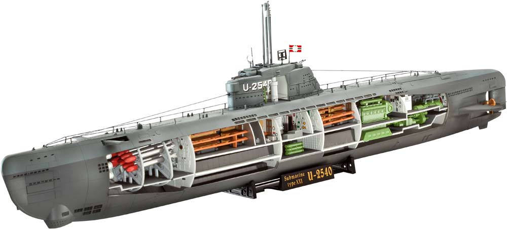 REV05078 Revell 1/144 Type XXI U-Boat with Interior
