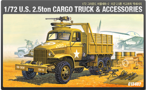 ACA13402 Academy 1/72 US 2.5Ton Cargo Truck and Accessories