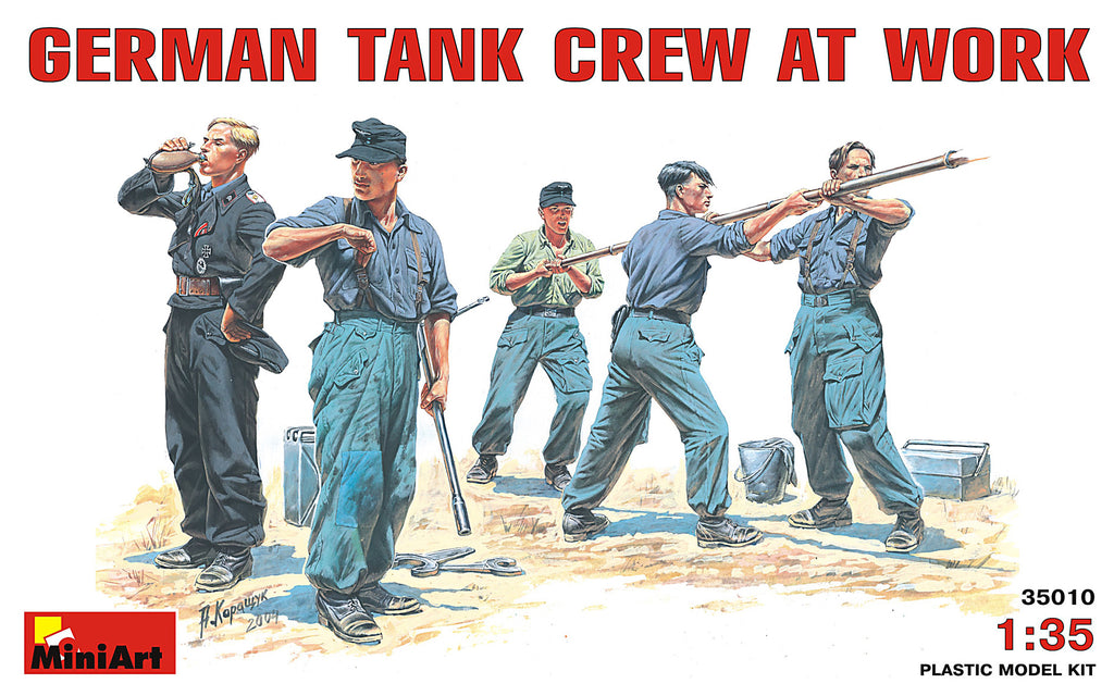 MIN35010 Miniart 1/35 German Tank Crew at Work