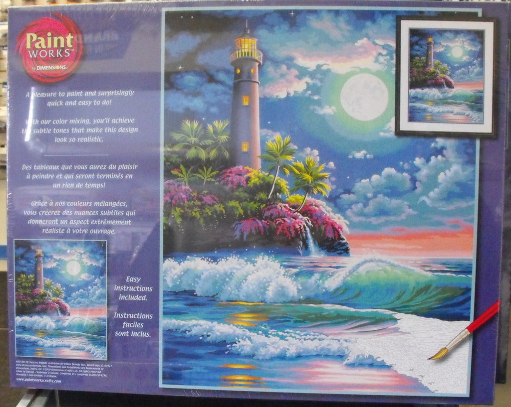 DIM91424 Paintworks Lighthouse in Moonlight