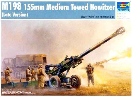 TRU02319 Trumpeter 1/35 M198 155mm Medium Towed Howitzer