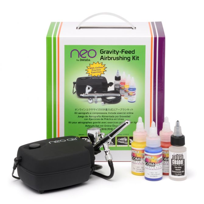 IWAIW120 NEO Gravity Feed Airbrushing Kit