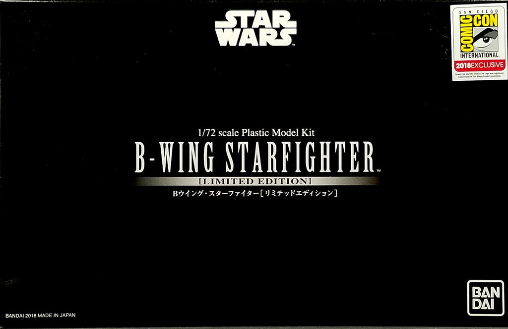 BAN0225799 Bandai 1/72 B-Wing Starfighter SDCC 2018 Exclusive