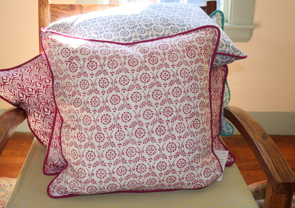 Pink Linen Decorative Pillow