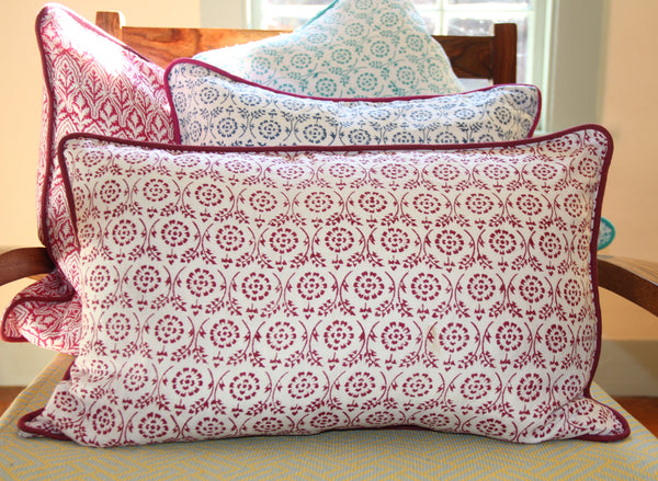 Pink Linen Decorative Pillow Cover