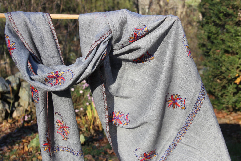 Hand Embroidered Pashmina