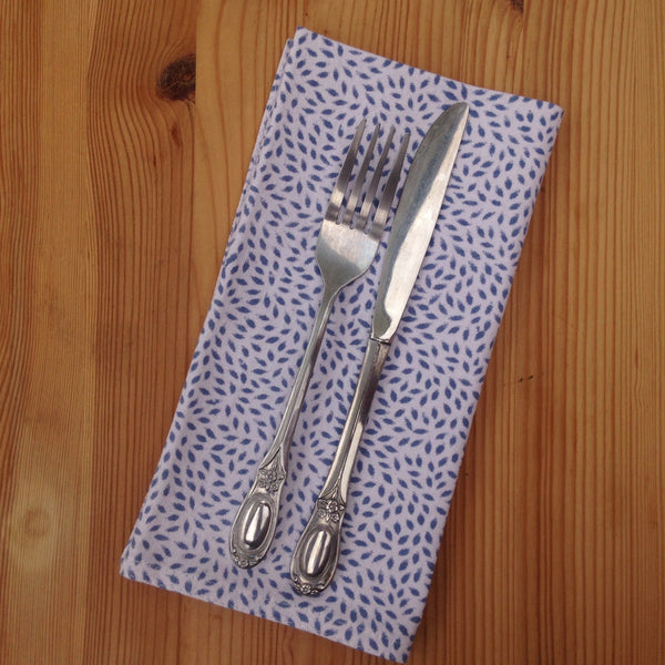 Blue Block Printed Cotton Napkin